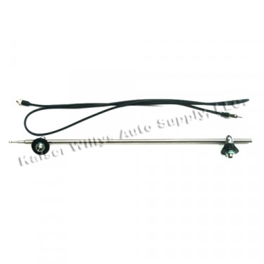 Side Mount Radio Antenna Kit, 41-71 Jeep & Willys