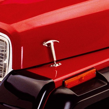 Hood Catch in Stainless, 76-86 CJ
