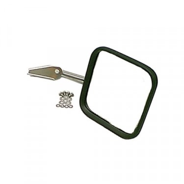 Passenger Side Mirror and Arm in Chrome, 76-86 CJ
