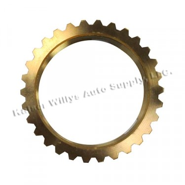 New Old Stock Transmission Synchronizer Brass Blocking Ring, 46-71 Jeep & Willys with T-90 Transmission