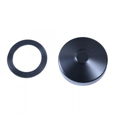 Black Fuel Tank Gas Cap, 46-71 Willys & Jeep