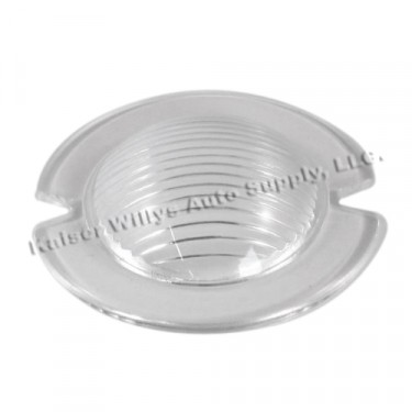 Clear Plastic Parking Light Lens, 46-53 Willys CJ-2A, 3A