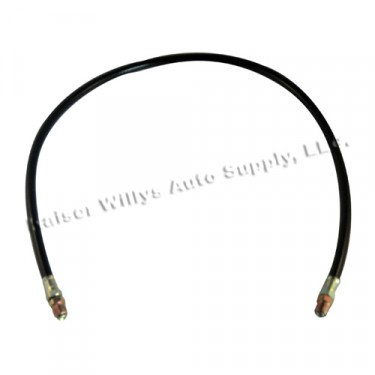 Oil Filter Inlet Hose 30 inch, 50-66 CJ-3B, 5, M38A1