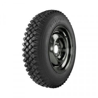 Firestone Knobby Tread Tire 650 x 16 Inch 4 ply, 41-71 Jeep & Willys
