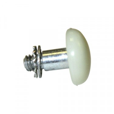 Ivory Door Lock Button, 46-64 Truck, Station Wagon