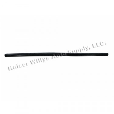 Rear of Wind Wing Vertical Division Bar Door Weatherseal, 48-51 Jeepster
