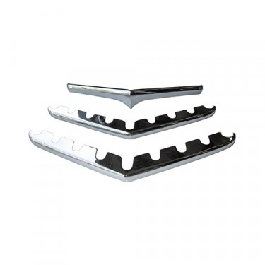 Chrome Horizontal Grille Bar Kit, 3 Piece Kit, 50-64 Truck, Station Wagon, Jeepster