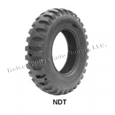 """STA Non Directional Tire 7.50 x 16"""" 8 ply Square Shoulder  Fits  41-71 Jeep & Willys"""