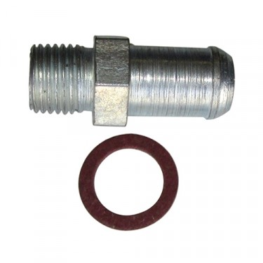Bypass Hose Fitting, 41-71 Jeep & Willys with 4-134 engine