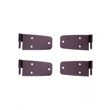 Door Hinge Kit in Black with Full Doors, 76-86 CJ