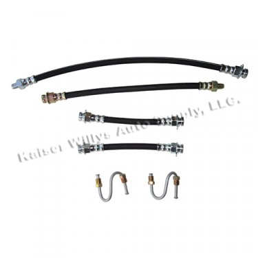 Front & Rear Brake Hose Kit (with frame to steel S-tubes) Fits : 41-45 MB, GPW