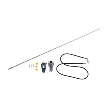 Radio Antenna Kit in Chrome, 76-86 CJ