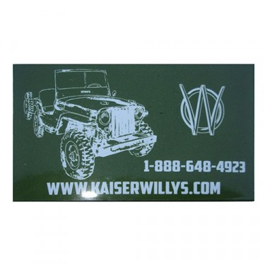 Kaiser Willys Jeep Magnet, Willys Accessory