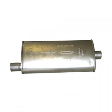Exhaust Muffler, 62-68 Truck, Station Wagon with 6-230 OHC engine