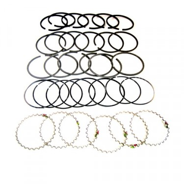 "New Complete Piston Ring Set - .040"" o.s. Fits 50-55 Station Wagon, Jeepser with 6-161 engine"
