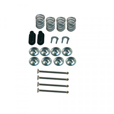 Brake Shoe Hold Down Spring Kit, 70-78 CJ with 11 Inch brakes