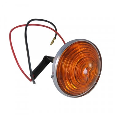 Park & Turn Signal Lamp Assembly, Amber Lens, 53-71 CJ-3B, 5