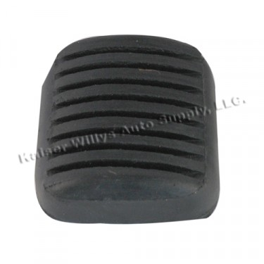 Clutch & Brake Pedal Rubber Pad, 55-71 Willys CJ-5