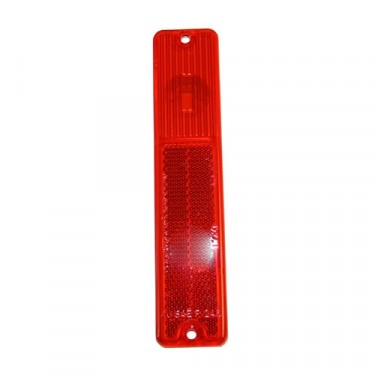 Rear Side Marker Lens in Red, 76-86 CJ