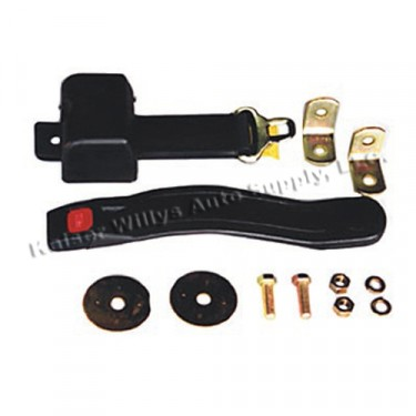 Retractable Front Seat Belt with Hardware, 41-75 Jeep