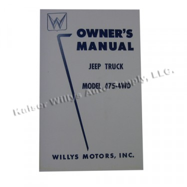 Owners Manual  Fits  50-53 Truck