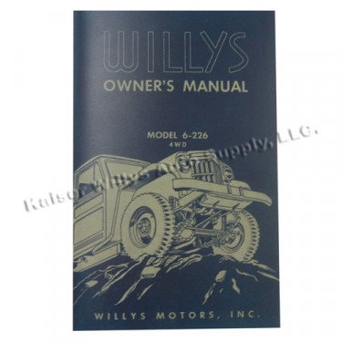 Owners Manual  Fits  54-55 Truck