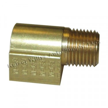 Fuel Pump Inlet & Outlet Fitting (90 degree port), 54-64 Truck, Station Wagon (6-226 engine)