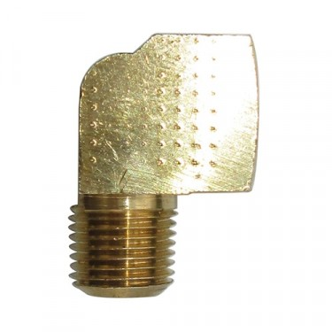 Oil Canister Inlet Hose Fitting (At Block - 90 degree port), 41-53 Willys & Jeep MB, GPW, CJ-2A, 3A, M38