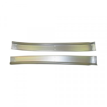 Aluminum Door Sill Cover Plates, 48-51 Jeepster & Station Wagon w/ Planar Suspension
