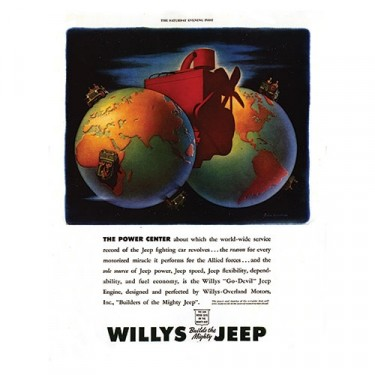 Vintage Willys Ad The Power Center