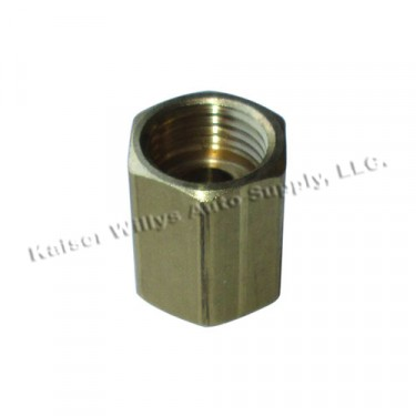 Fuel Line Brass Flare Fitting, 41-52 MB, GPW, M38