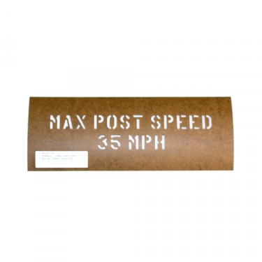 "Paint Stencil ""Max Post Speed 35 MPH"" Fits 41-71 Jeep & Willys"