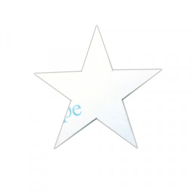 "Decal 3"" High White Bumper/Body Star Fits 41-71 Jeep & Willys"