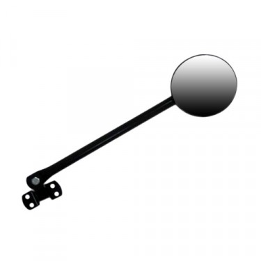 Side Arm Mirror Kit with 5 inch Round Mirror, 55-71 Willys CJ-5