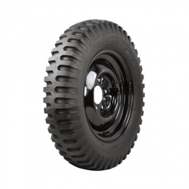 "Firestone Non Directional Tire 7.50 x 16"" Square Shoulder  Fits  41-71 Jeep & Willys"
