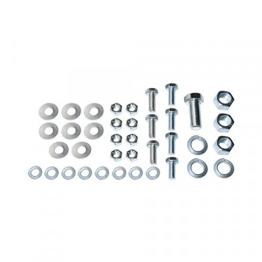 Engine & Transmission Insulator Mount Hardware Kit, 53-64 CJ-3B, 5, 6 with 4-134 engine