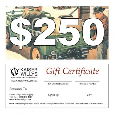 $250 Gift Certificate to Kaiser Willys