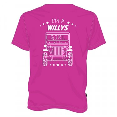 """I'm a Willys Girl"" Female T-Shirt Fits 41-71 Jeep & Willys"