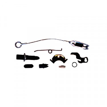 Rear Driver Side Drum Brake Self Adjusting Hardware Kit with 10 Inch Brake, 78-86 CJ