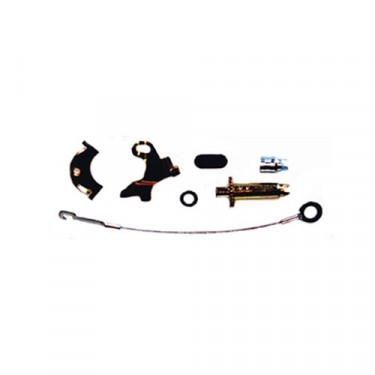 Rear Passenger Side Drum Brake Self Adjusting Hardware Kit with 10 Inch Brake, 78-89 CJ