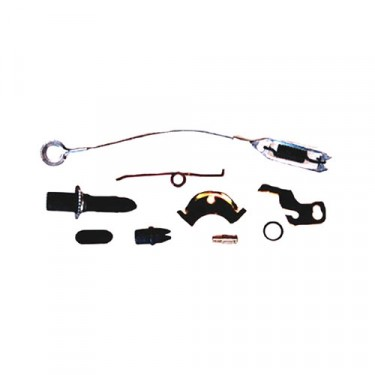 Driver Side Drum Brake Self Adjusting Hardware Kit, 76-78 CJ