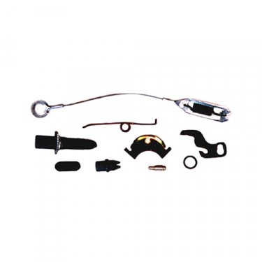 Passenger Side Drum Brake Self Adjusting Hardware Kit with 11 Inch Brakes, 76-78 CJ