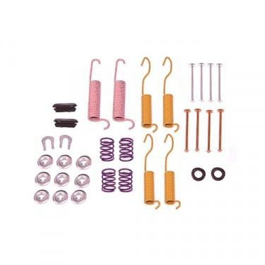 Rear Drum Brake Hold Down Hardware Kit with 10 Inch Brakes, 78-86 CJ