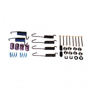 Drum Brake Hold Down Hardware Kit, 76-78 CJ