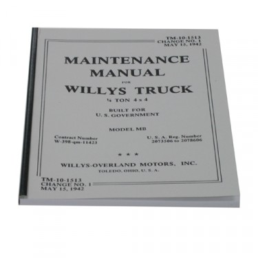 Mechanics (service) Manual Fits 41-45 MB, GPW