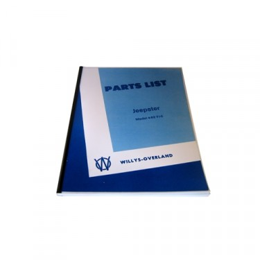 Master Parts List Manual Fits 48-49 Jeepster