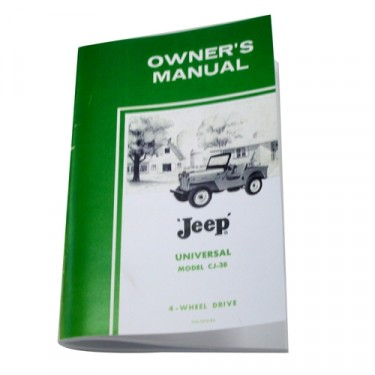 Owners Manual Fits 53-64 CJ-3B