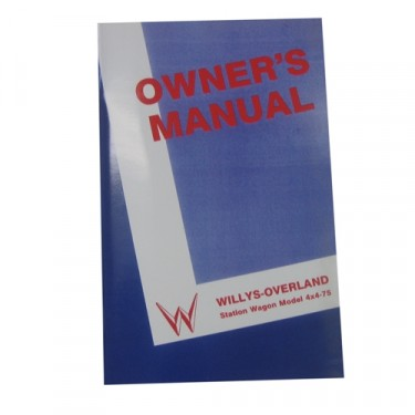 Owners Manual Fits 50-53 Station Wagon