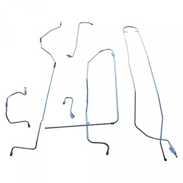 Complete Formed Steel Brake Line Kit (4-134), 50-53 Station Wagon, Sedan Delivery with Dana 44 axle