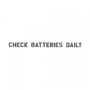 """Standard 1"""" Check Batteries Dailey Paint Mask Stencil Fits 41-71 Jeep & Willys (1 Line)"""